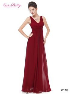 """Deep v-neck long evening dress    Padded enough for """"no bra"""" option    Elegant ruched waist design creates a universally flattering silhouette, Simple    Versatile design makes this dress appropriate for nearly any occasion    Concealed zipper up the back    Lining, no stretch"""