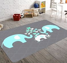 Elephant Mat Elephant Nursery Mat Elephant Nursery Decor ...