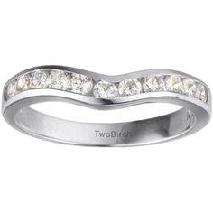 18k Gold 1/3ct TDW Diamond Classic Contour Wedding Ring (G-H, SI2-I1) (18k Rose Gold, Size 8.5), Women's