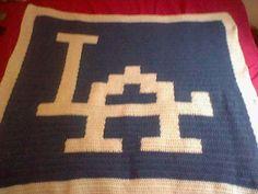 Super Soft Crochet Dodger Blanket by CrochetByJewell on Etsy, $74.99
