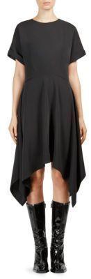Kenzo Crewneck Asymmetrical Dress