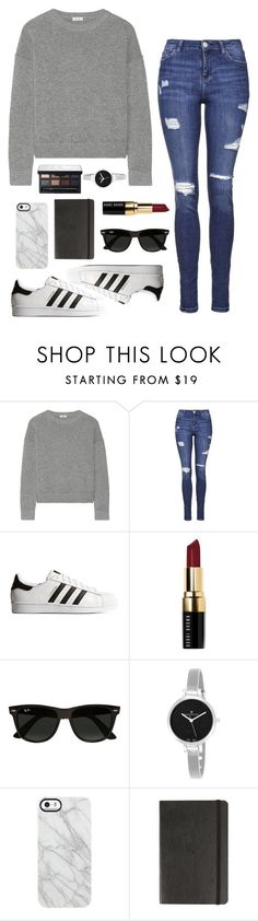 """Untitled #150"" by rachelallegra on Polyvore featuring Issa, Topshop, adidas Originals, Bobbi Brown Cosmetics, Ray-Ban, Christian Van Sant, Uncommon, Moleskine and NARS Cosmetics"