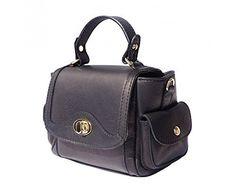 LaGaksta Handy Small Italian Soft Leather Shoulder Crossbody Tote Bag