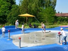 Splash Pump with Mushroom Head 002 Water Playground, Outdoor Playground, Children Playground, Water Supply, Play Equipment, Urban, Mushroom, Pump, Party Ideas