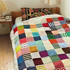 ぽってり編み地がなつかしいアフガン編みのサンプラーの会 | フェリシモ