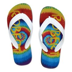 Tie Dye Flip Flops - Small in Christmas Preview 2012 from Lillian Vernon on shop.CatalogSpree.com, my personal digital mall.