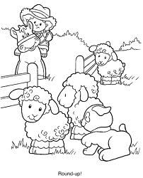 Farm Animals Coloring Page | Worksheets, Farming and Animal