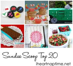 Top 20 crafts and recipes for this week posted!