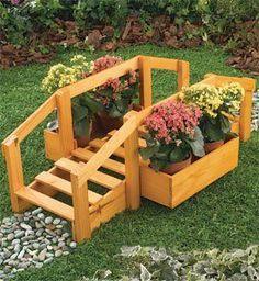 Ideias com Pallets para Jardim Ideas with Garden Pallets - Arteirices e Costurices Garden Yard Ideas, Garden Crafts, Garden Projects, Garden Deco, Wooden Planters, Diy Planters, Pallet Planters, Planter Garden, Garden Pallet