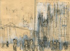 AVSM: atmospheric qualities of the sketch with restrained color, use of white, gesture (isaac tobin)