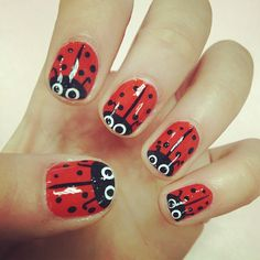 14 Best Ladybug Nails Images On Pinterest Cute Nails Pretty Nails