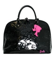 Never thought i'd love barbie this much <3 Black barbie purse