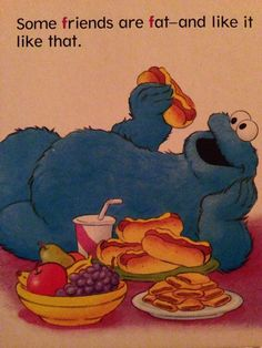 """some chill positivity from a 1998 Sesame Street book about the letter F"""