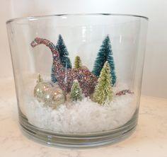 Theron's Dino Christmas decor!