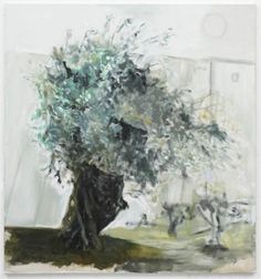 Olive Tree   -   Marlene Dumas , 2010  South African, b.1953-  Oil on linen, 59 x 55 inches (149.9 x 139.7 cm)