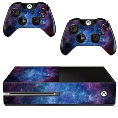 Cool Design For Xbox One Console With 2 Controller PVC Nebula Skin Decal Console Sticker Cover Protector Wraps Game Accessories