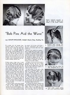 Forties Fashions: Vintage Haircuts & Hairstyles for Short Hair Vintage Haircuts, 1940s Hairstyles, Quick Hairstyles, Hairstyles Haircuts, Historical Hairstyles, Vintage Makeup, Vintage Beauty, Vintage Style, 1930s Hair