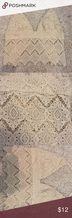 American Eagle Lace Crop Top NWOT NEVER WORN American Eagle Lace Crop Top NWOT NEVER WORN American Eagle Outfitters Tops Crop Tops