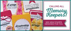 There's a new stamp set from TechniqueTuesday.com designed  for scrapbookers. The Scrapbookers Embellish stamp set features all kinds of witty scrapbooking phrases.