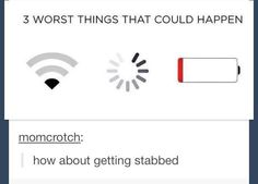 How about getting stabbed, tumblr funny