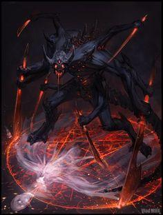 Demônios e outras criaturas de terror nas ilustrações de Vlad Marica