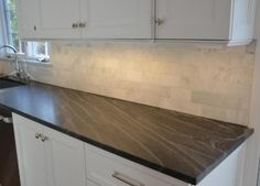 Perimeter Granite Countertop - Jet Mist - honed - Jet Mist Granite #Granite…