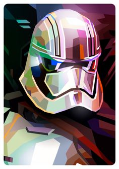 Star Wars - Captain Phasma by Liam Brazier Star Wars Pictures, Star Wars Images, Star Wars Fan Art, Cuadros Star Wars, Star Wars Painting, Star Wars Wallpaper, Iphone Wallpaper, Star Wars Poster, Love Stars