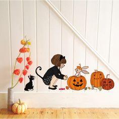 Halloween Pumpkins Wall Sticker by Belle & Boo