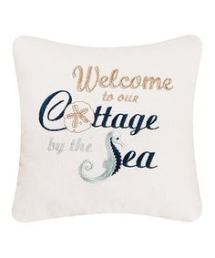 Take a look at this 'Cottage by the Sea' Throw Pillow today!
