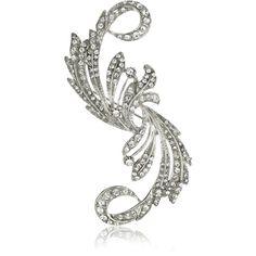 Nina Bridal Taylor Vintage Inspired Brooch ($65) ❤ liked on Polyvore
