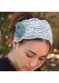 gray lace headband