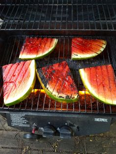 Grilled watermelon is a summertime favorite for me.