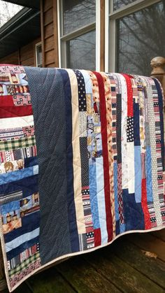 Mostly Patriotic Strip Quilt Strip Quilts, Etsy Shop, Blanket, Trending Outfits, Unique Jewelry, Handmade Gifts, Bags, Shopping, Vintage