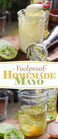 Foolproof Homemade Mayo | thehealthyfoodie.com