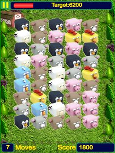 App Shopper: Acres Farm Crush Club: Rescue 3D Mammals In Match 3 Puzzle Game (Games)