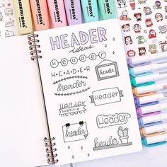 24 Insanely Simple Bullet Journal Header Ideas To Steal! - Need some bullet journal header ideas for beginners? This post is FOR YOU! The perfect way to live - Bullet Journal Inspo, Bullet Journal Headers, Bullet Journal Banner, Bullet Journal Aesthetic, Bullet Journal Notebook, Bullet Journal Ideas Pages, Bullet Journal Layout, Bullet Journal Decoration, Bullet Journal For Beginners