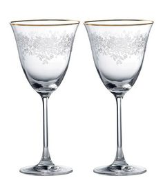 Look at this #zulilyfind! Crystal Goblet - Set of Two by Royal Albert #zulilyfinds