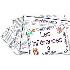 Les inférences 3 - Cartes à tâches ! Reading Resources, Reading Strategies, Teaching Reading, Word Work Activities, Speech Therapy Activities, Literacy Stations, Literacy Centres, Writing Centers, Inquiry Based Learning