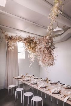This Gorgeous Floral Installation Is Breaking the Internet Australian Paper, Green Wedding Shoes, Wedding Events, Diy Wedding, Wedding Flowers, Flower Installation, Floral Chandelier, Floral Backdrop, 100 Layer Cake