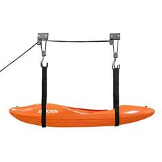 Kayak Canoe Lift Hoist Kayak For Garage / Canoe Hoists 100 lb Capacity Lifetime Warranty by RAD Sportz Kayak Storage Rack, Kayak Rack, Boat Storage, Garage Storage, Kayak Hanger, Garage Hoist, Storage Ideas, Deck Storage, Kayaking Tips