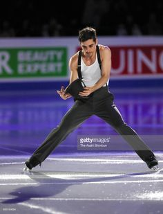 News Photo : Javier Fernandez of Spain performs in the gala...