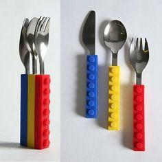 Cubiertos de Lego ¡Muy originales y fáciles de guardar ;))