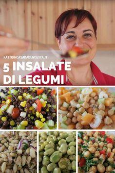 Insalate di legumi. 5 idee per insalate estive fresche e colorate. Diet Recipes, Vegetarian Recipes, Healthy Recipes, Diet Challenge, Greens Recipe, Food Humor, Antipasto, Vegan Life, Italian Recipes