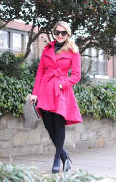 Loving my new berry colored coat...