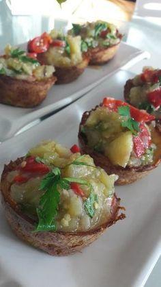 Patates Çanağında Patlıcan Salatası, İzmirdenlezzetler Oya Genç