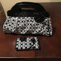 Vera Bradley frill purse and wallet EUC, rarely used Vera Bradley Frill purse and matching wallet.  Great size for an evening bag. Vera Bradley Bags