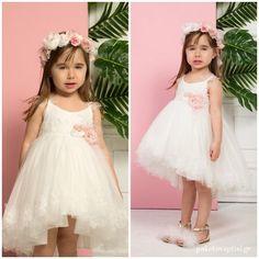 Βαπτιστικό Φόρεμα Ιβουάρ Mi Chiamo K4292Ε Girls Dresses, Flower Girl Dresses, Christening, Girl Outfits, Wedding Dresses, Clothes, Fashion, Dresses Of Girls, Baby Clothes Girl