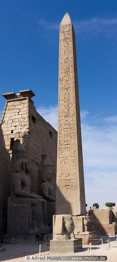 Red granite obelisk Luxor Egypt                                                                                                                                                                                 More