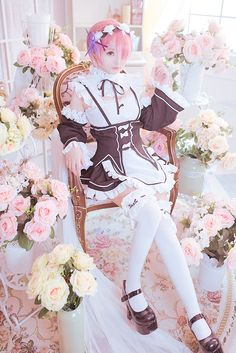 Anime Re Zero Starting Life In Another World Cosplay Costumes Rem Ram Cosplay Maid Halloween Party Kara Hajimeru Isekai Seikatsu Structural Disabilities Home