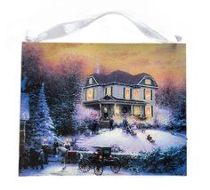 This illuminated Thomas Kinkade canvas wall art will be the perfect  as a 40th, 50th or 60th birthday gift! Click today to see all the details.